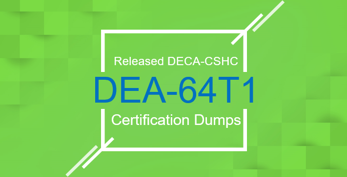 Released DELL EMC DEA-64T1 Certification Dumps